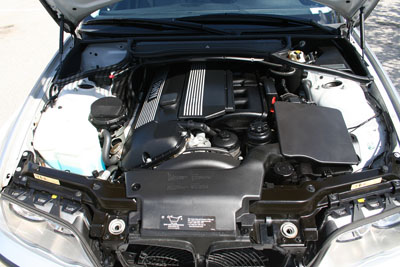 BMW 330i Engine Front