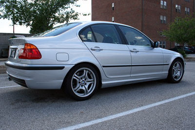 BMW 330i Rear Passenger Side Angle